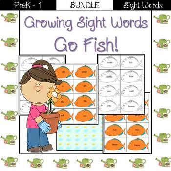 Sight Word Go Fish! (pre-primer/primer BUNDLE)