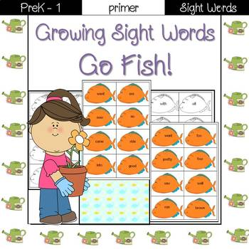 Sight Word Go Fish! (primer)