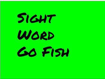 Sight Word GoFish