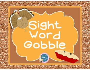 Sight Word Gobble {sight word games]