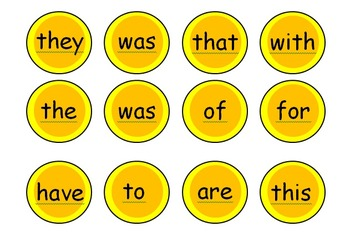 Sight Word Gold