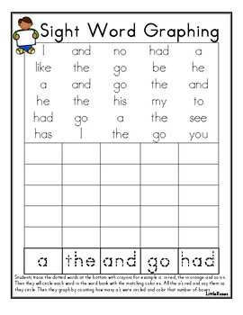 sight word graphing bundle by little rosebuds teachers pay teachers