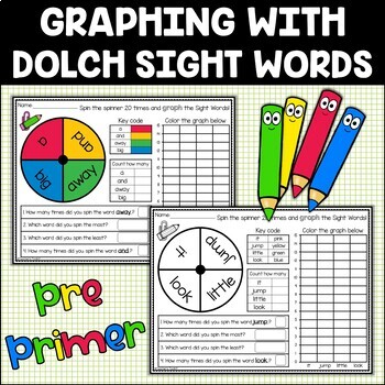 Sight Words Graphing Dolch Pre-Primer {Includes Editable Templates}