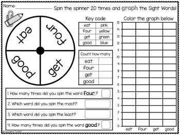 Sight Words Graphing Dolch Primer {Includes Editable Templates}