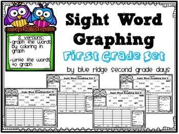 Sight Word Graphing First Grade Level