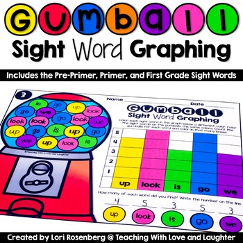 Sight Word Graphing {Pre-Primer, Primer, and First Grade Words}