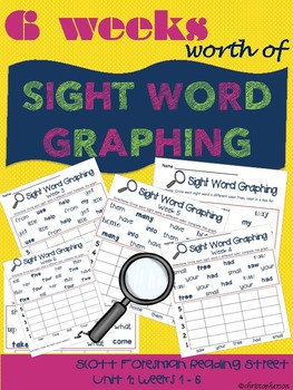 Sight Word Graphing- Reading Street Unit 1