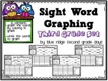 Sight Word Graphing Third Grade Level