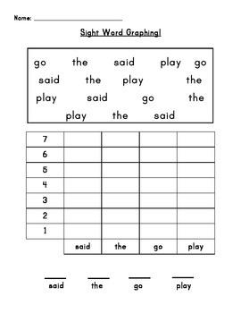 Sight Word Graphs