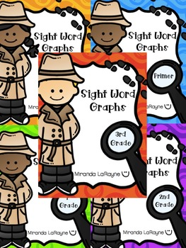 Sight Word Graphs - ALL Dolch Words Bundled