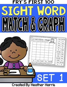 Sight Word Graphs: No Prep Cut and Paste (Set 1)
