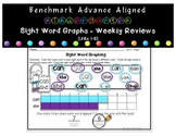 Sight Word Graphs - Weekly Review (Benchmark Advance Aligned)