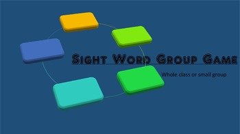 Sight Word Group Game