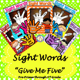 Sight Words NO PREP, JUST PRINT! Pre-Primer-3rd Grade Lists for Differentiation