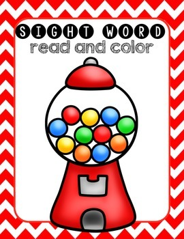 Sight Word Gum Ball Read & Color