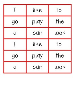 Sight Word Gumball Bump It