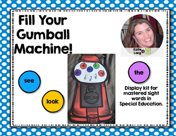 Sight Word Gumball Machine Display
