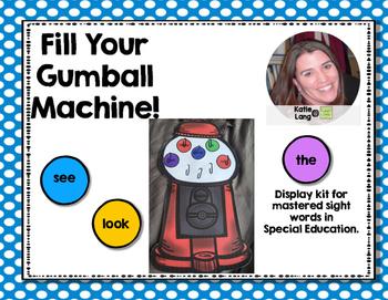 Sight Word Gumball Machine Display