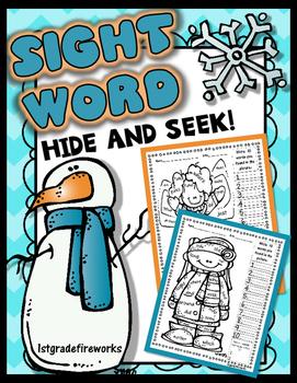 Sight Word... HIDE & SEEK