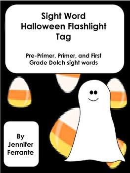 Sight Word Halloween Flashlight Tag