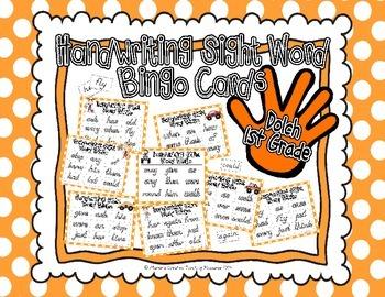 Sight Word Handwriting Bingo {1st Grade}