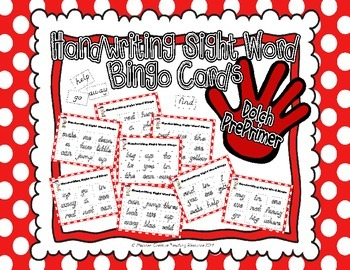 Sight Word Handwriting Bingo {PrePrimer}