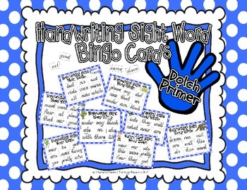 Sight Word Handwriting Bingo {Primer}