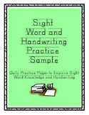 Sight Word Handwriting Practice Freebie