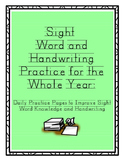 Sight Word Handwriting Practice for the Whole Year