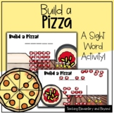 """Build a Pizza: Mystery Sight Word """"Hangman"""" Twist Game   D"""