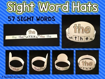 Sight Word Hats Set 1