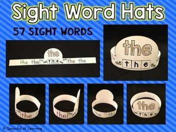 Sight Word Hats Set 1
