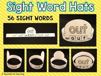 Sight Word Hats Set 2