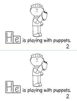 "Sight Word ""He"" Emergent Reader"