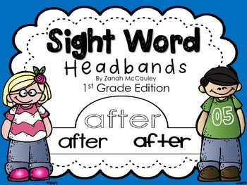 Sight Word Headbands 1st Grade Edition