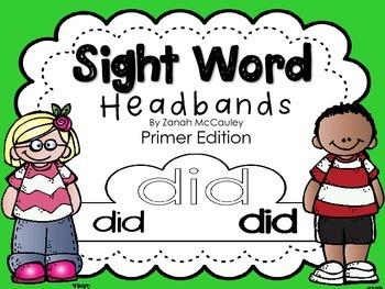 Sight Word Headbands Primer Edition