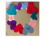 Sight Word Heart Wreath Craft