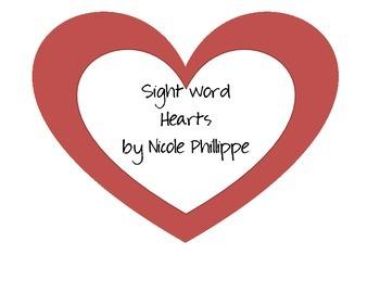 Sight Word Hearts