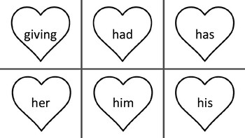 Sight Word Hearts- First Grade
