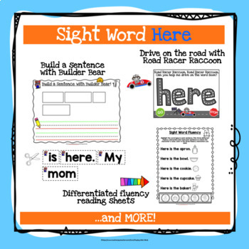 Sight Word Here Activities