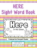 "Sight Word ""Here"" Emergent Reader"