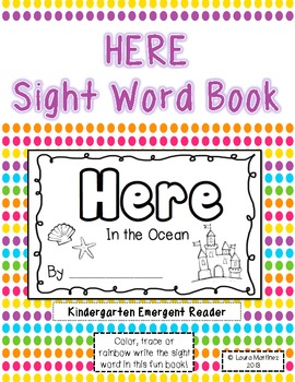 "Sight Word ""Here"" Emergent Reader"