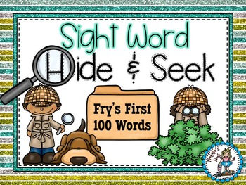 Sight Word Hide and Seek {Fry's First 100 Words}