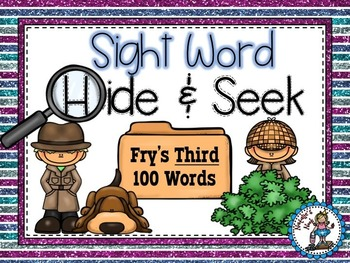 Sight Word Hide and Seek {Fry's Third 100 Words}
