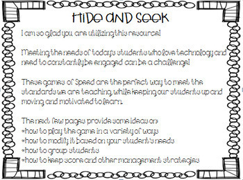 Sight Word Games of Hide and Seek for Reading Wonders 1st grade {Unit 2}