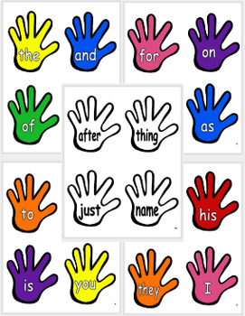 Sight Word High Fives (124 Most Common Words)