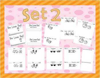 Sight Word - High Frequency Set of Emergent Reader Books2