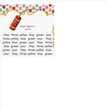 Sight Word/ High Frequency Word Fluency Practice