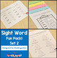 Kindergarten Sight Words - High-Frequency Word Fun Pack BUNDLE