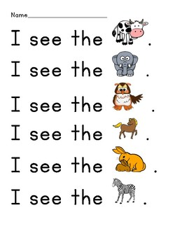 Sight Word (High Frequency Word) Reading Practice - see